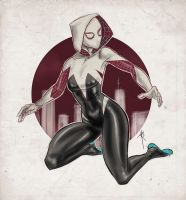 Gwen Stacy as Spider Woman by linxo
