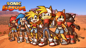 Sonic BOOM: The full gang by FOX-POP