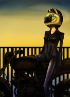 Celty DRRR by MidonaitoSerenitii