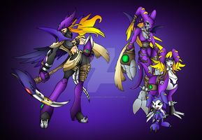 Malimon EVOLUTIONS by neoarchangemon
