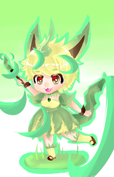 leafeon by greendog345
