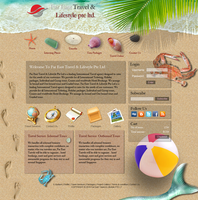 Travel Agency's web layout by scarlett-mist