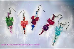 Sailor Moon and Scouts Inspired Earrings by KouranKiyo