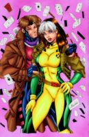Rogue and Gambit by kizmvp