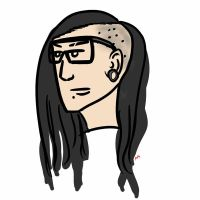Skrillex Caricature by Megalomaniacaly