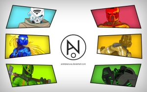 Bionicle Revamp Wallpaper by AndrakaNuva