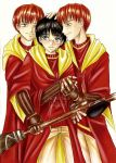 _Commish_Harry and twins by Rusneko