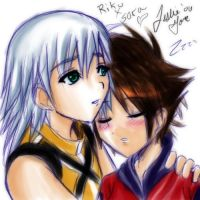 Sleepy - RikuxSora by bradsgurl