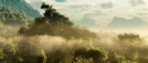 Misty Mountains Panorama by Lairis77