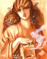Pandora after Rossetti by LiminalWorks