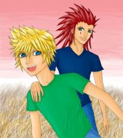 Axel and Roxas by 0Fallon0