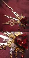 """Bloody Aether"" hair clip by Space-Invader"