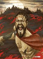 300 - Leonidas color by juarezricci