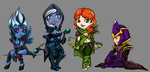 Dota 2 Mini characters by halmtier