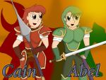 Cain and Abel: Altea's blade and shield by jules1998