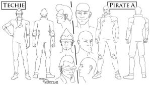 Pirate/Techie model sheet by unitzer07