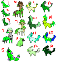 going green 10-20 point adopts OPEN by MoeSqueeToeAdopts