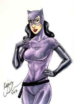Catwoman sketch card by mechangel2002