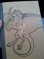 Patchwing Dragon Notebook Art by LordDessik