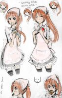HH- Misaki Cooking Club sketches by MamoRandom