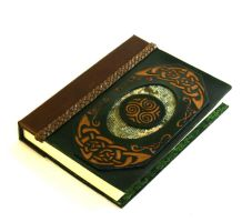Celtic Green Leather Journal by McGovernArts