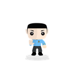 Flat Spock from Star Trek by CoinOpRoux