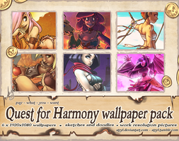 Quest for Harmony wallpaper pack folio + extras by atryl