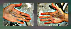 painters hands by murkithefrog