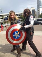 SDCC 2014: Fem Cap and Winter Soldier by Omnipotrent