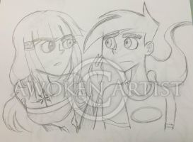 Sketch Art: Danny Phantom - Who are you? by AnimeEmm