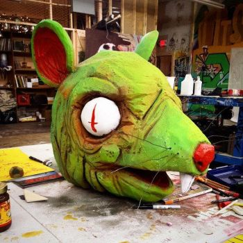 Nuclear Rat Mask by KillerNapkins