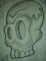 skull sketch by joogerson