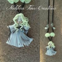 White Ghost Polymer Clay. by Nakihra