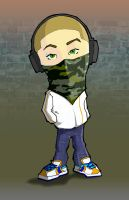 lil' headphone bandana gangsta by j0epep