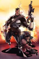 Punisher + Wolvie by kcspaghetti
