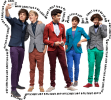 Imagen PNG One Direction con texto by Cata-Belieber