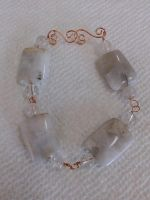 copper agate and quartz crystal bracelet by Wolf-Lady-bsparks85