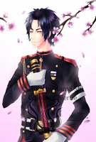 :Collab with Kama-shi: Guren - Owari no Seraph by Chierue