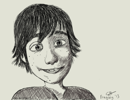 Hiccup - How To Train Your Dragon Quick Sketch by Fragsey