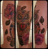 owl tattoo 3 by FraH