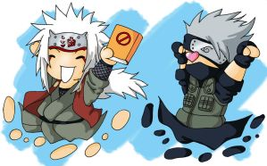 Kakashi and Jiraiya Chibi by Japanfanzz