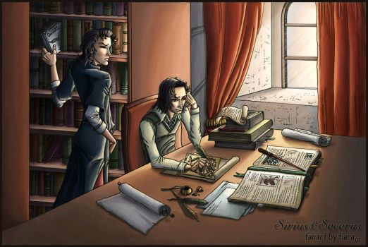 Sirius Black and Severus Snape by tiararus