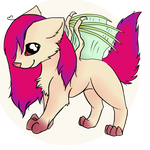 Pixie - The Winged Wolf ._. by Kathe-gf
