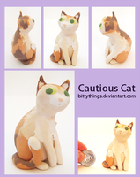 Cautious Cat  SOLD by Bittythings