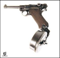 LUGER with a Drum Magazine by KOKORONIN