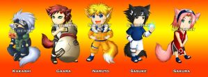 Keychains - Naruto by Silberry