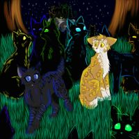 Cats-Warriors: Crowpaw x Leafpaw by Do-omed-Moon