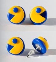 Pacman earrings by chabersztyna