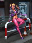 Peach at bus stop by Dmitrys