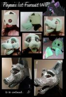 Payasa Fursuit WIP by Payasa